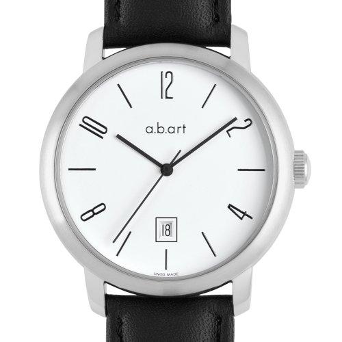 a b art Herren Armbanduhr Analog Automatik Leder MA101