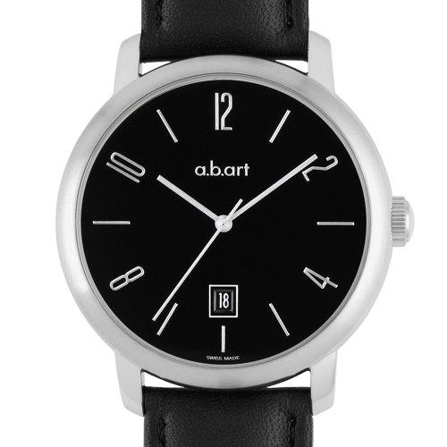 a b art Herren Armbanduhr Analog Automatik Leder MA102
