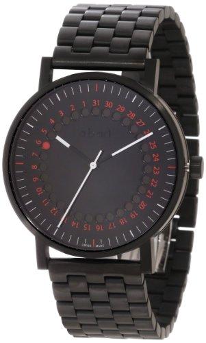 a b art Herren s o150b Serie O Schwarz Edelstahl Armband Armbanduhr