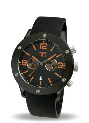 Davis Herren-Armbanduhr Analog Quarz Kautschuk 887