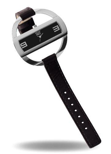 Davis 1200 Armbanduhr Analog mit Lederarmband Schwarz