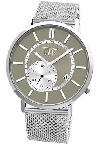Davis Herren Armbanduhr Davis Analog Quarz Edelstahl 1621MB