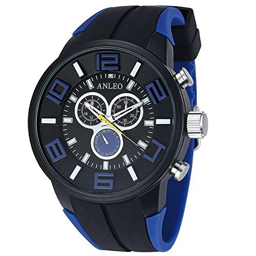anleowatch 1 Herren Sport Uhren Herren Damen Unisex Militaer Handgelenk Uhren Casual
