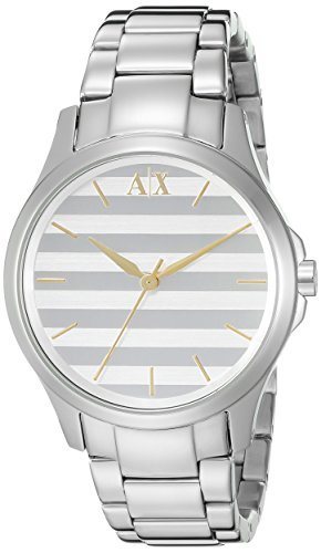 Armani Exchange Damen 36mm Silber delstahl Armband Gehaeuse Uhr AX5230