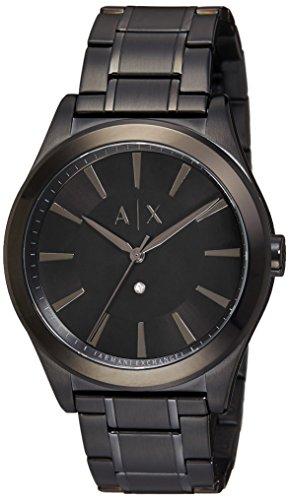 Armani Exchange Herren Armbanduhr Armband Edelstahl Schwarz Gehaeuse Quarz Analog AX2326