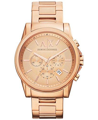 Armani Exchange Herren ax2502 rosegoldenem Edelstahl mit rosegoldenem Zifferblatt