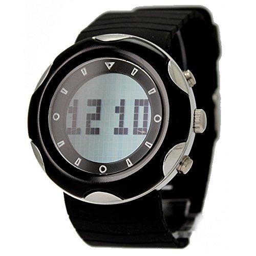 10 aw366 a rund schwarz Watchcase Datum Hintergrundbeleuchtung Schwarz Luenette Herren Analog Digital Armbanduhr