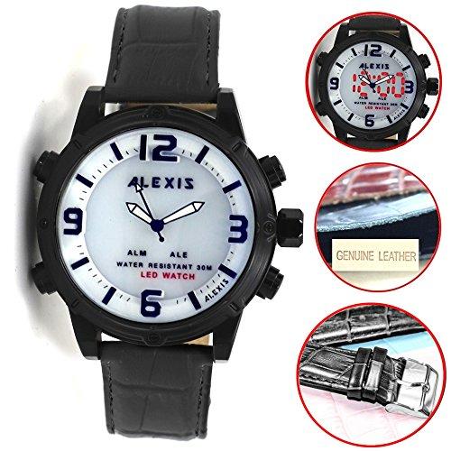 10 aw802h schwarz Watchcase LED Hintergrundbeleuchtung Wasser widerstehen Herren Frauen Analog Digital Armbanduhr