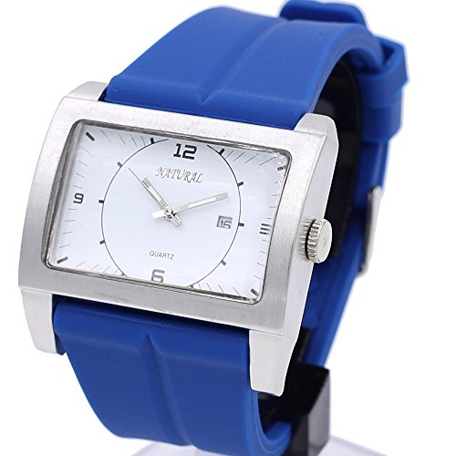 10 fw606j PNP matt silber Watchcase Silikon Blau Band Unisex Elegante Fashion Armbanduhr