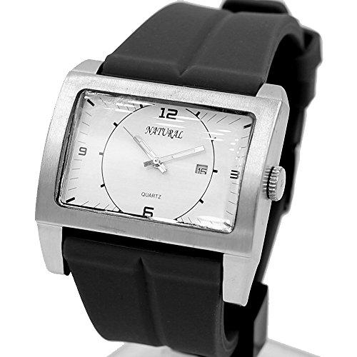 10 fw606l weiss Zifferblatt Wasser widerstehen Silikon Schwarz Band Jelly mit Datum Fashion Armbanduhr