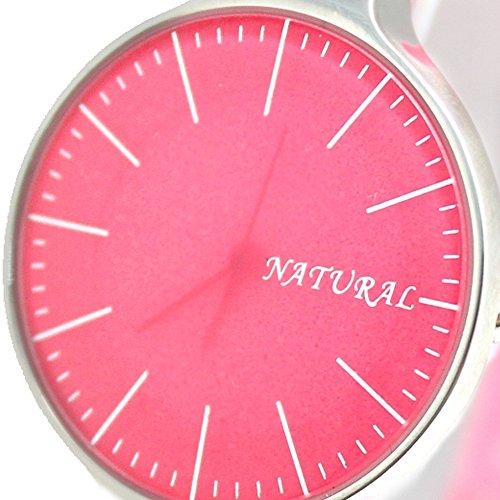 10 fw788g Pink Zifferblatt Band Rosa PNP glaenzend Silber Watchcase Damen Frauen Fashion Armbanduhr
