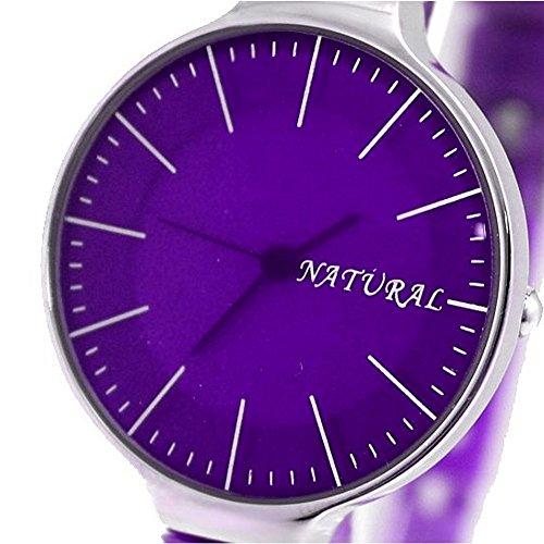 10 fw788i natur violett Band PNP glaenzend Silber Watchcase Damen Frauen Fashion Armbanduhr
