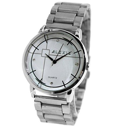 10 fw824s matt silber Band Rund PNP glaenzend Silber Watchcase Herren Frauen Fashion Armbanduhr