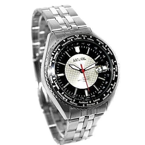 10 fw829 a matt silber Band Rund PNP glaenzend Silber Watchcase Herren IPS Classic Armbanduhr