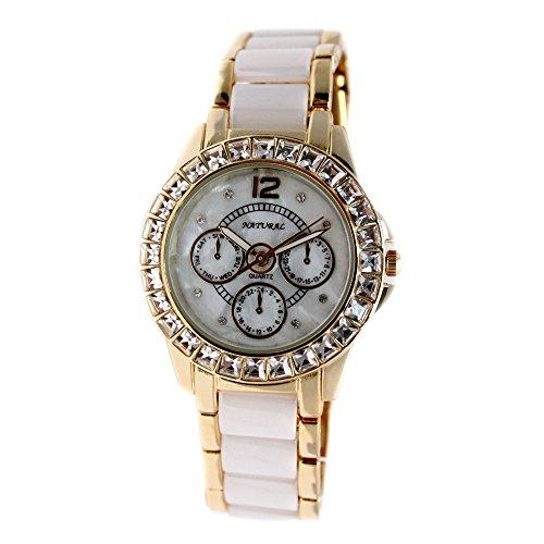 10 fw830z Neue Wasser widerstehen weiss Zifferblatt Frauen Keramik wasserabweisend Armband Armbanduhr