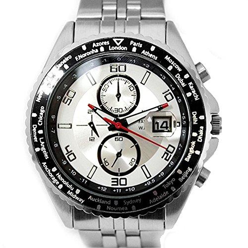10 fw833 a natur rund PNP matt silber Watchcase Wasser widerstehen Herren IPS Marke Uhr