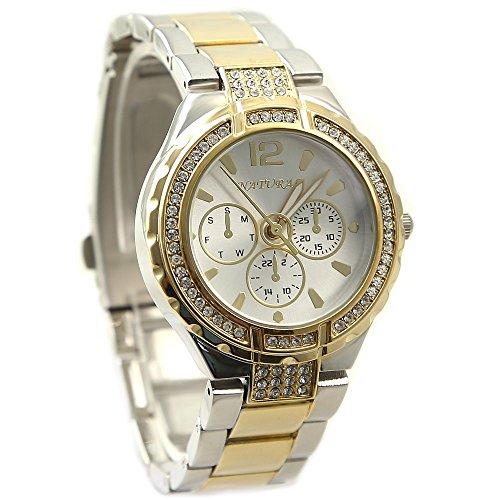 10 fw836 F Neues Natuerliche rund Wasser gegen weiss Zifferblatt Damen Frauen Armband Armbanduhr