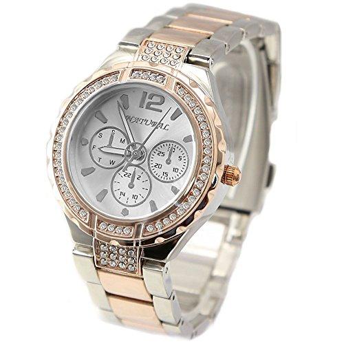 10 fw836d New Rose Gold und PnP Band weiss Zifferblatt Frauen wasserabweisend Armband Armbanduhr