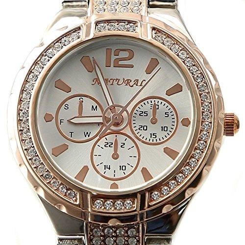 10 fw836e Natural Rose Gold und PnP Band Wasser widerstehen weiss Zifferblatt Frauen Armband Armbanduhr