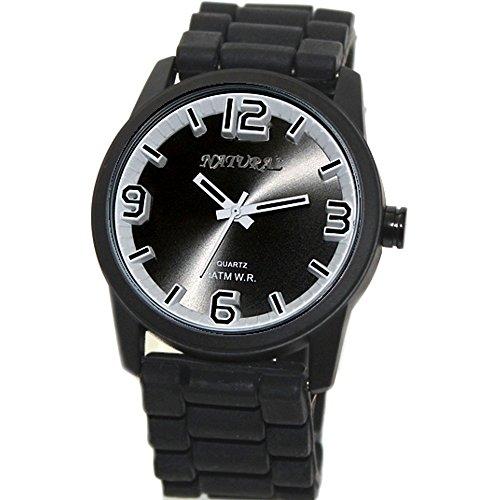 10 fw848 a Wasser widerstehen Silikon Schwarz Band Herren Frauen 100 getestet 3 ATM Fashion Armbanduhr