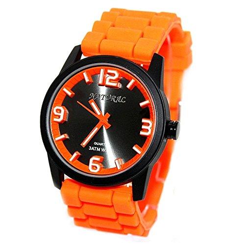 10 fw848h Wasser widerstehen Silikon Orange Band Boy Girl 100 getestet 3 ATM Fashion Armbanduhr