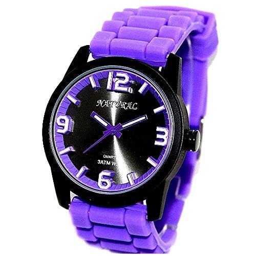 10 fw848i Wasser widerstehen Silikon Violett Band Boy Girl 100 getestet 3 ATM Fashion Armbanduhr