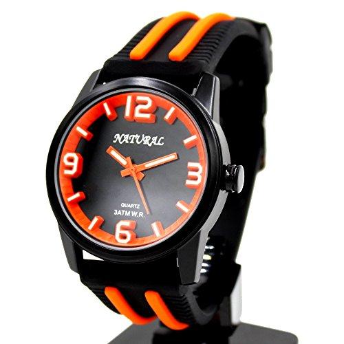 10 fw848t schwarz Zifferblatt Wasser widerstehen Silikon Schwarz Band Boy Girl orange Fashion Armbanduhr