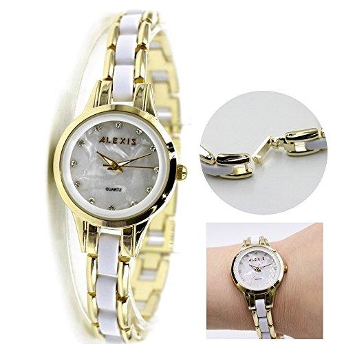 10 fw865d Neue Runde Wasser widerstehen weiss Zifferblatt Damen Frauen Armband Armbanduhr