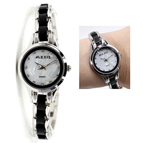 10 fw865e New glaenzend Silber Band Water Resist Weiss Zifferblatt Damen Frauen Armband Armbanduhr