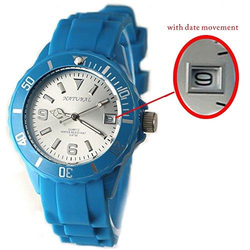 10 fw893d matt silber Zifferblatt blau Watchcase Herren natur Marke mit Datum Fashion Armbanduhr