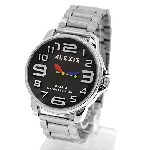 10 fw939 N matt silber Band Rund PNP glaenzend Silber Watchcase Herren Frauen Fashion Armbanduhr