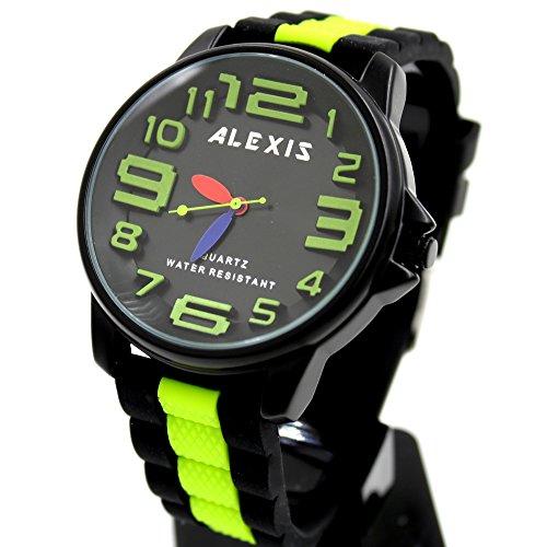 10 fw939g schwarz Zifferblatt Silikon Schwarz Band Unisex Elegante Alexis Marke Fashion Armbanduhr