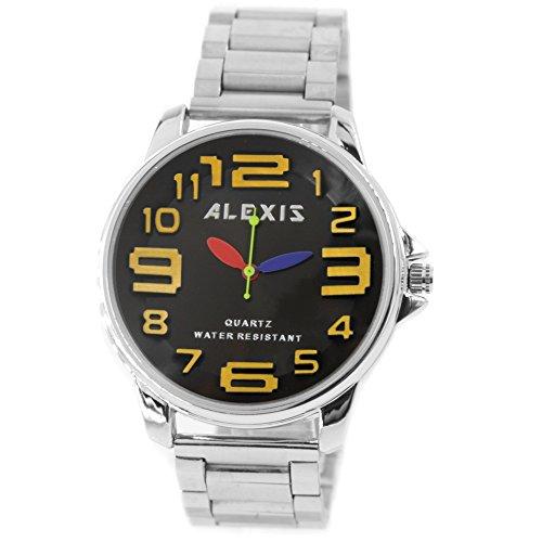 10 fw939p matt silber Band Rund PNP glaenzend Silber Watchcase Herren Frauen Fashion Armbanduhr
