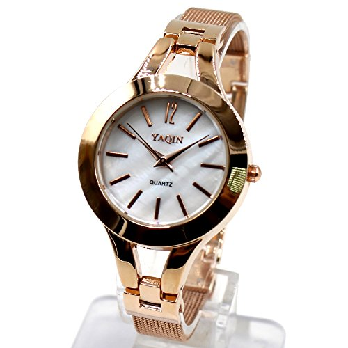 10 fw940 a Rose Gold pnp Band Rose Gold PNP Watchcase weiss Zifferblatt Armband Armbanduhr