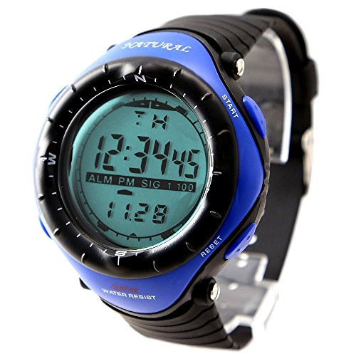 10dw003 a Chronograph Alarm Hintergrundbeleuchtung Schwarz Luenette Wasser widerstehen Unisex blau
