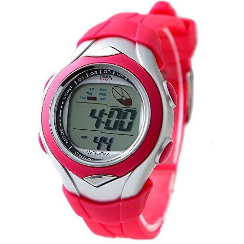 10dw045g Chronograph Datum Alarm Hintergrundbeleuchtung magenta Luenette Wasser widerstehen Digitale Armbanduhr