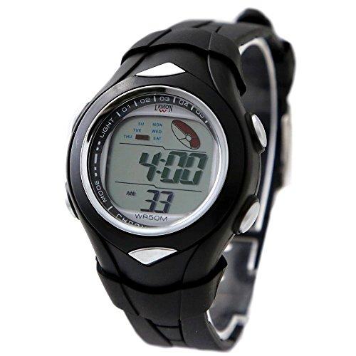 10dw045h schwarz Band Schwarz Watchcase Datum Alarm Hintergrundbeleuchtung Schwarz Luenette Digitale Armbanduhr