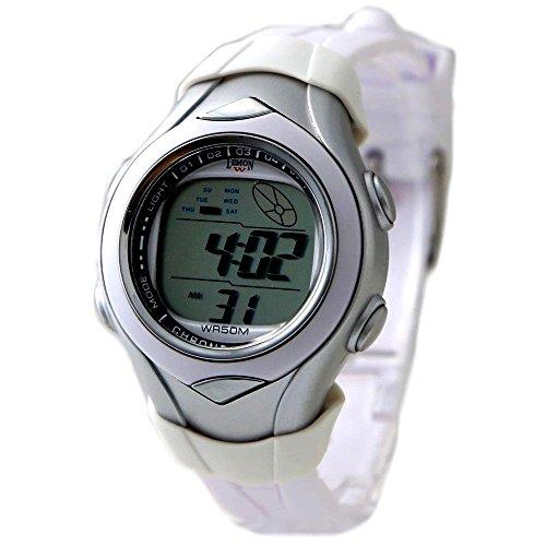 10dw045i PNP glaenzend Silber Watchcase Datum Alarm Hintergrundbeleuchtung weiss Luenette Digitale Armbanduhr