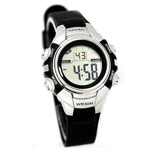 10dw121 m PNP matt silber Watchcase Datum Alarm Hintergrundbeleuchtung Wasser widerstehen Digitale Armbanduhr