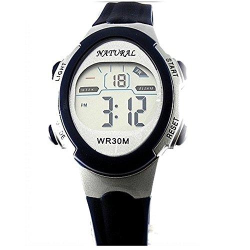 10dw327 a Datum Alarm Hintergrundbeleuchtung Wasser widerstehen Herren Frauen wasserabweisend Digitale Armbanduhr