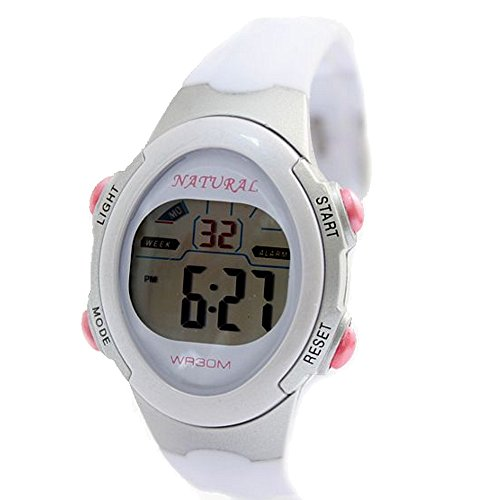 10dw327h Light Gray Watchcase Chronograph Datum Hintergrundbeleuchtung weiss Luenette Digitale Armbanduhr