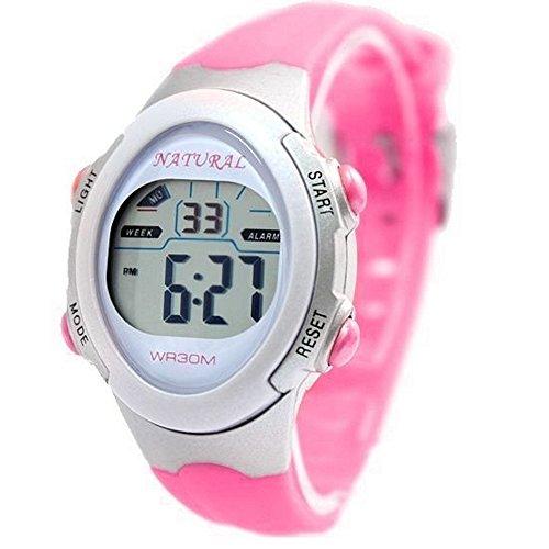 10dw327i Light Gray Watchcase Chronograph Datum Hintergrundbeleuchtung weiss Luenette Digitale Armbanduhr