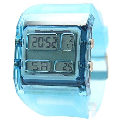 10dw351 a rechteckig hellblau Watchcase Chronograph Alarm Boy Girl Digitale Armbanduhr