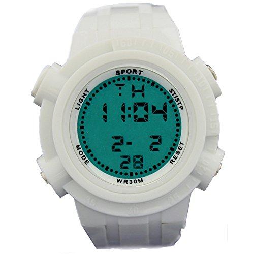 10dw357b weiss Watchcase Chronograph Hintergrundbeleuchtung weiss Luenette Herren Frauen Digitale Armbanduhr