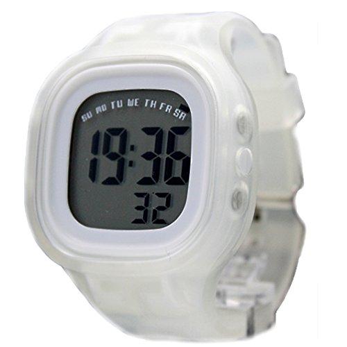 10dw358d Datum Alarm Hintergrundbeleuchtung weiss Luenette Weiss Silikon Band Unisex Digitale Armbanduhr