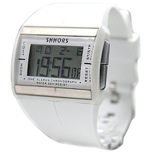10dw360 a Chronograph Alarm Hintergrundbeleuchtung PNP matt silber Luenette Herren Damen Digital Armbanduhr