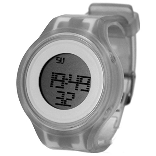 10dw363 C Chronograph Datum Alarm Hintergrundbeleuchtung Silikon Weiss Band Unisex Digitale Armbanduhr