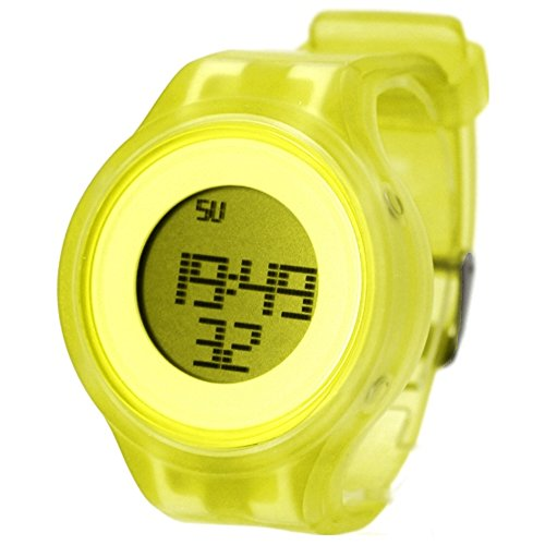 10dw363d Chronograph Datum Alarm Hintergrundbeleuchtung Silikon Gelb Band Herren Damen Digital Armbanduhr