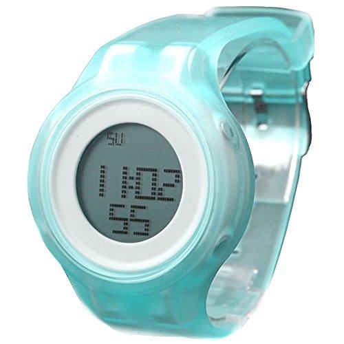 10dw363e Chronograph Alarm Hintergrundbeleuchtung Silikon Hellblau Band Unisex Digitale Armbanduhr