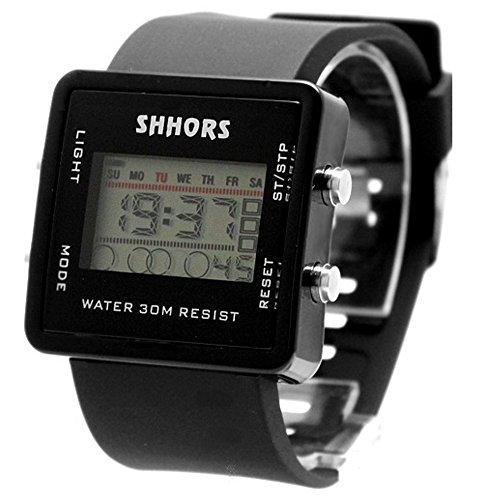 10dw366 a schwarz Watchcase Alarm Hintergrundbeleuchtung Unisex Discount Golf trendige Digital Armbanduhr